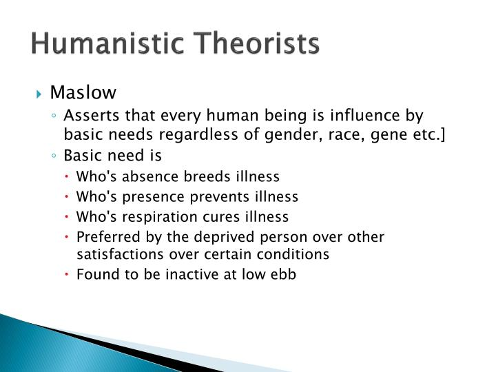 Humanistic Theorists