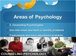 areas of psychology1