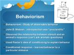 behaviorism