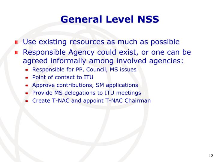 General Level NSS