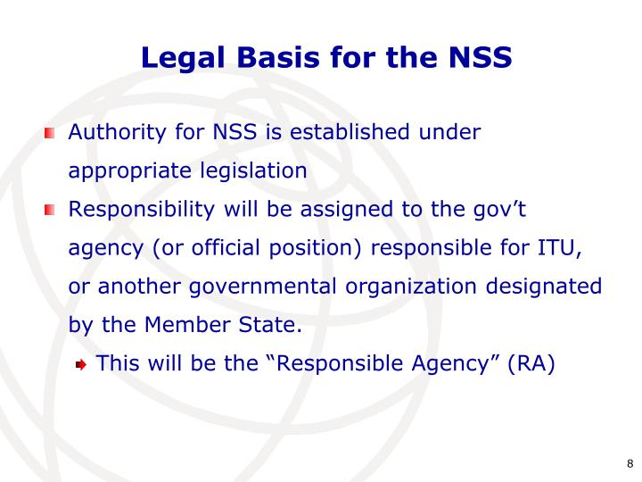 Legal Basis for the NSS
