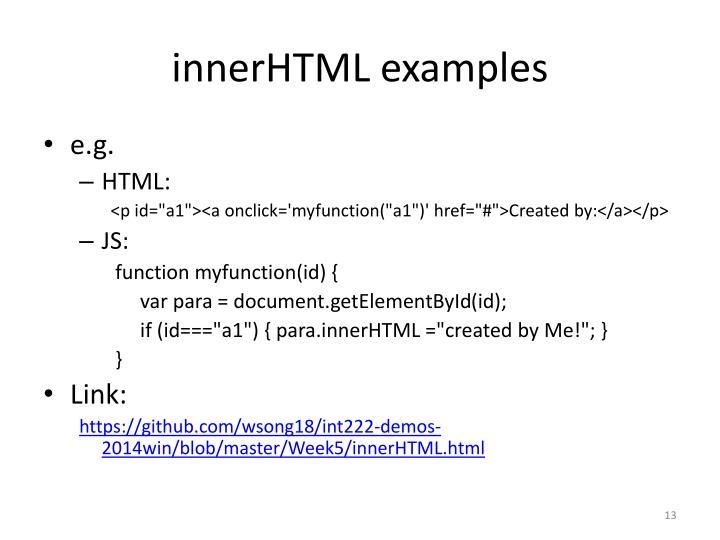 innerHTML