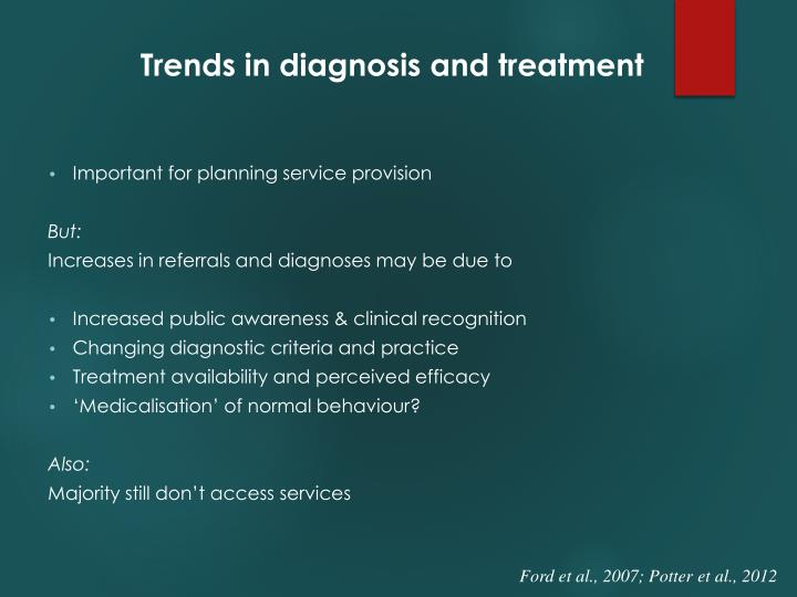 Trends in diagnosis and treatment