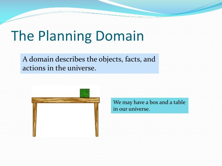 The planning domain