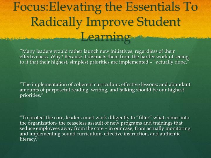 Focus:Elevating