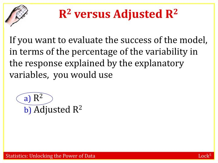 R 2 versus adjusted r 2