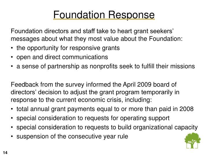 Foundation Response
