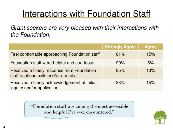 Interactions with Foundation Staff
