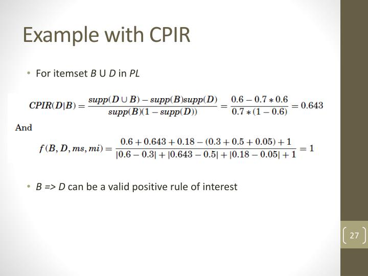 Example with CPIR