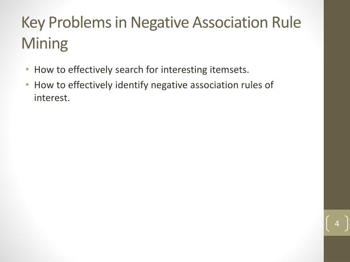Key Problems in Negative Association