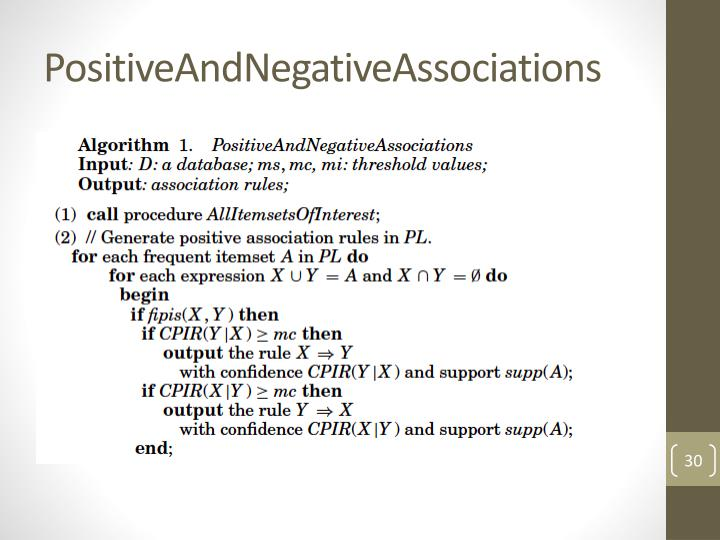 PositiveAndNegativeAssociations