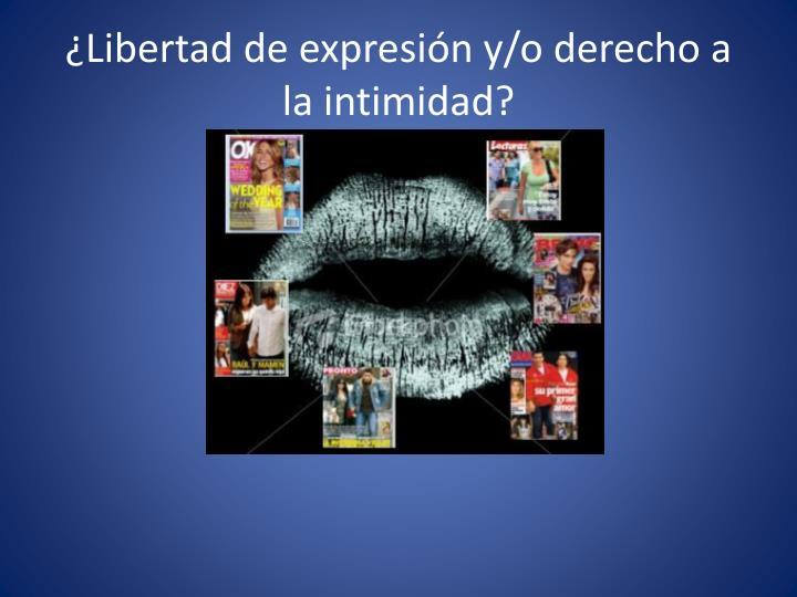 ¿Libertad de expresión y/o derecho a la intimidad?