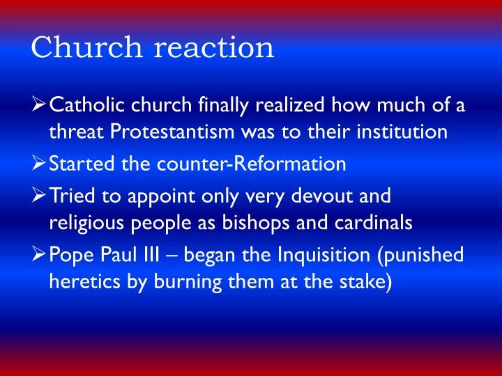 Church reaction