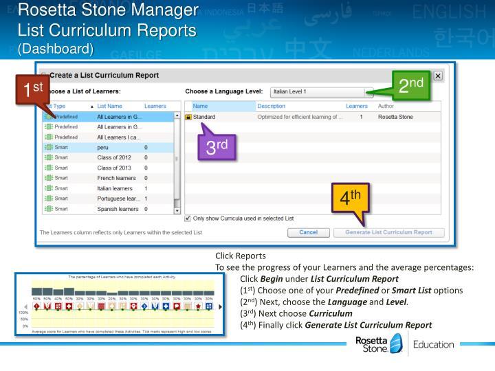 Rosetta Stone Manager