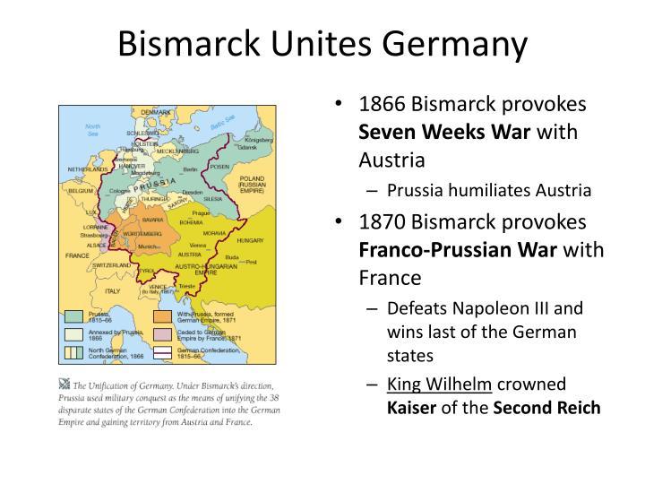 Bismarck Unites Germany