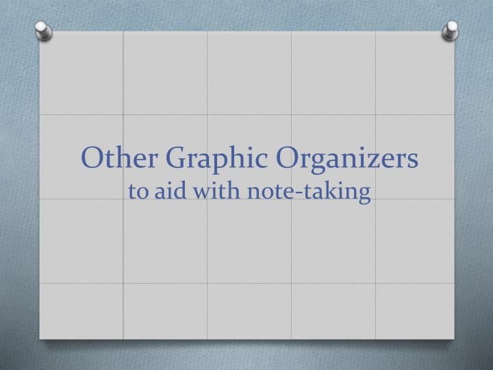 Other Graphic Organizers