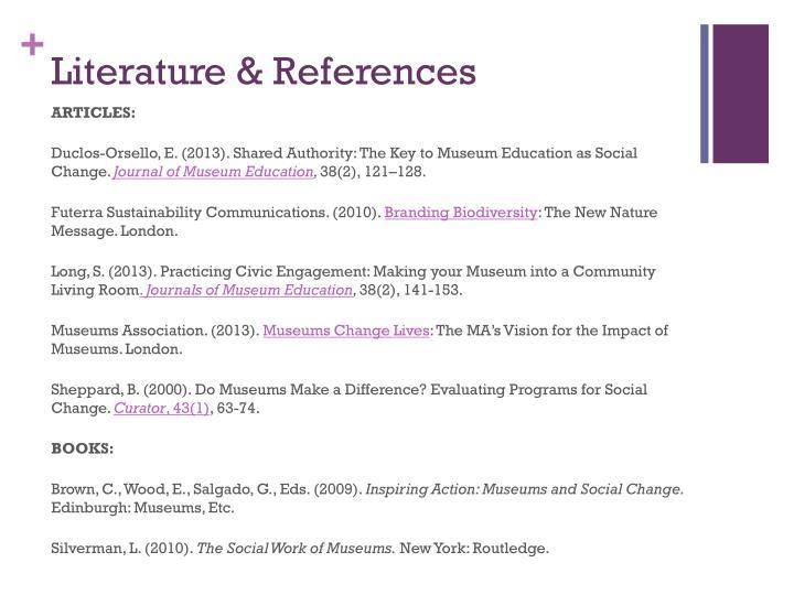 Literature & References