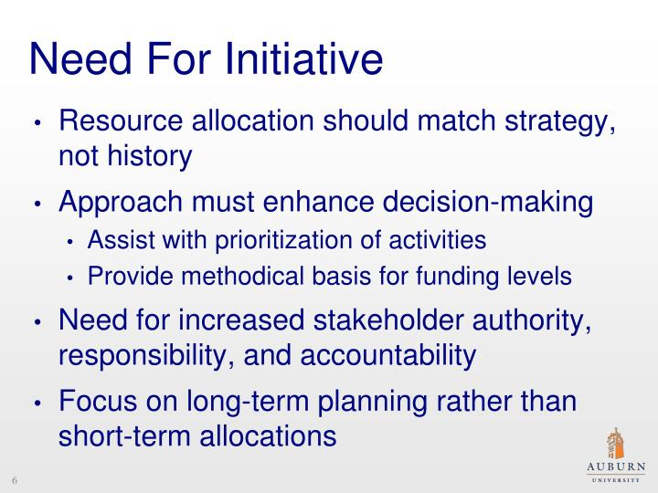 Need For Initiative