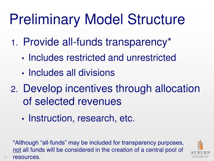 Preliminary Model Structure