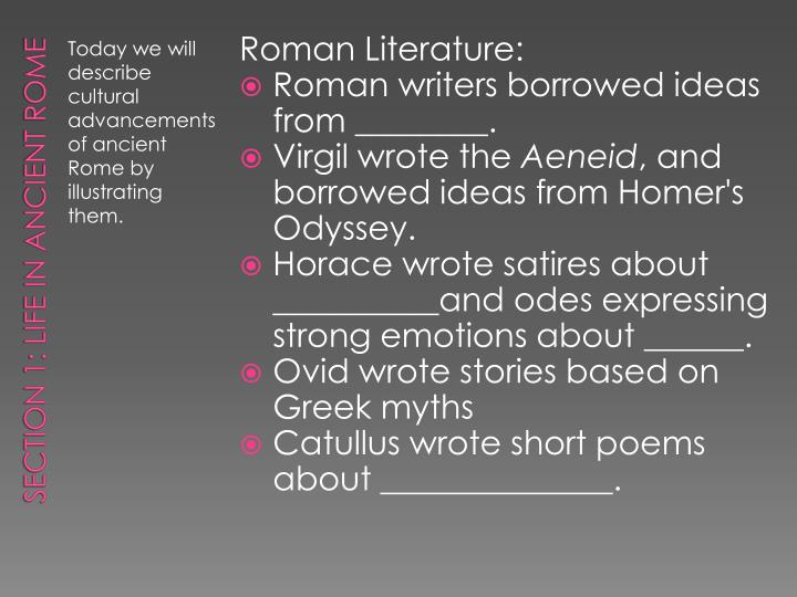 Roman Literature: