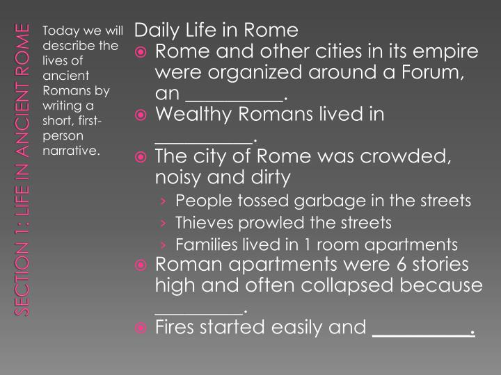 Daily Life in Rome