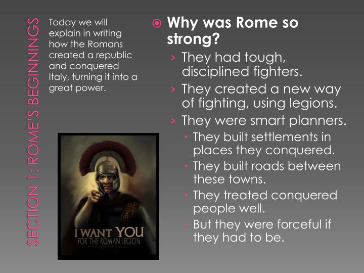 Why was Rome so strong?