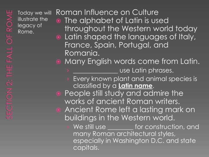 Roman Influence on Culture