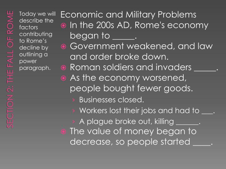 Economic and Military Problems