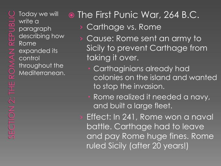 The First Punic War, 264 B.C.