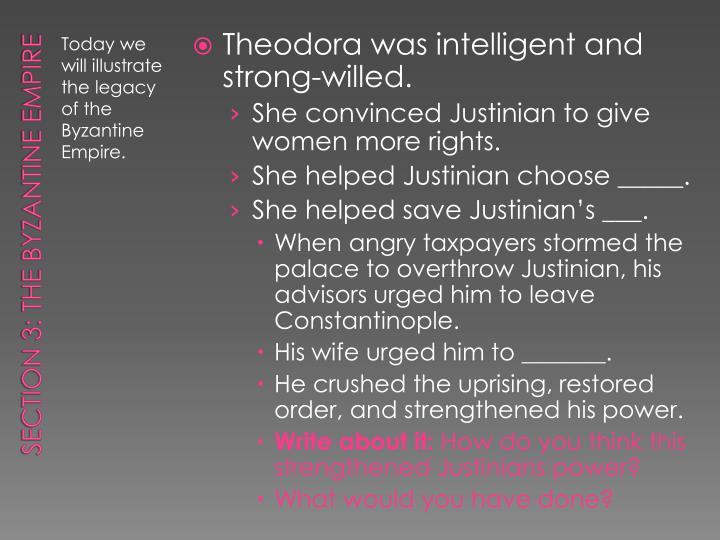 Theodora was
