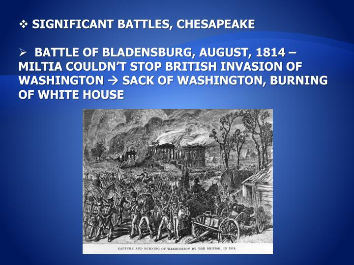 SIGNIFICANT BATTLES, CHESAPEAKE