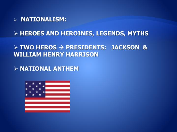 NATIONALISM: