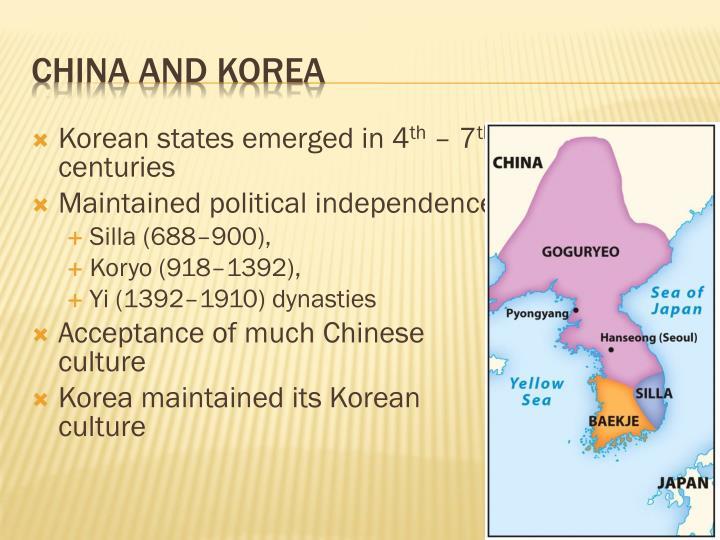Korean states emerged in 4