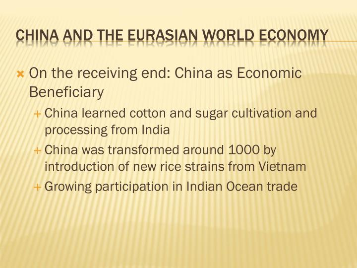 On the receiving end: China as Economic Beneficiary