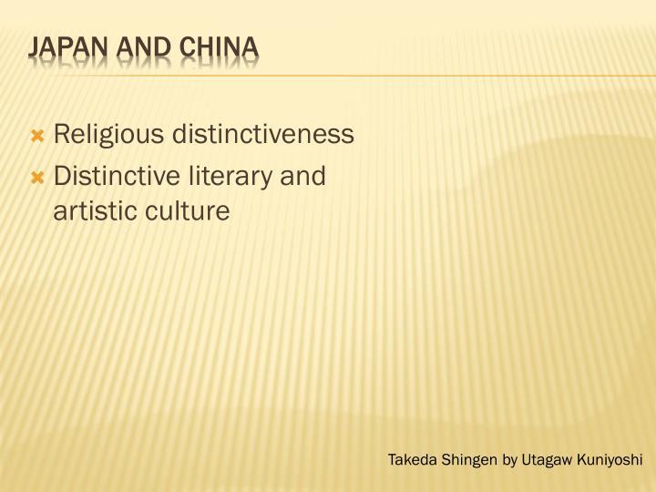 Religious distinctiveness
