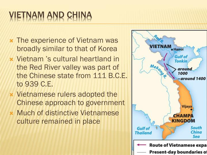 The experience of Vietnam was broadly similar to that of Korea