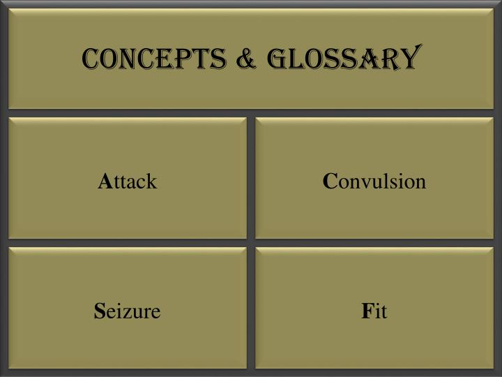 Concepts glossary