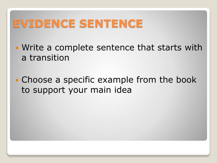 Write a complete sentence that starts with a transition