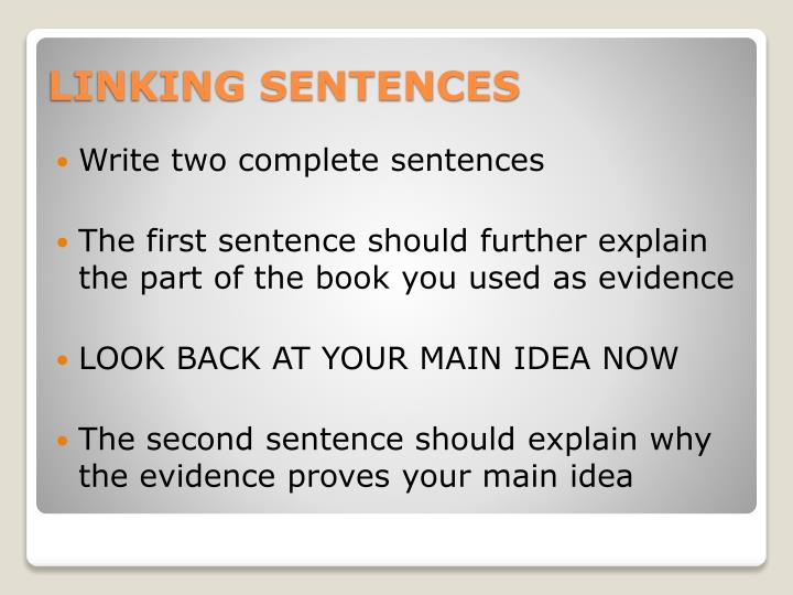 Write two complete sentences