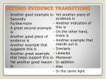second evidence transitions