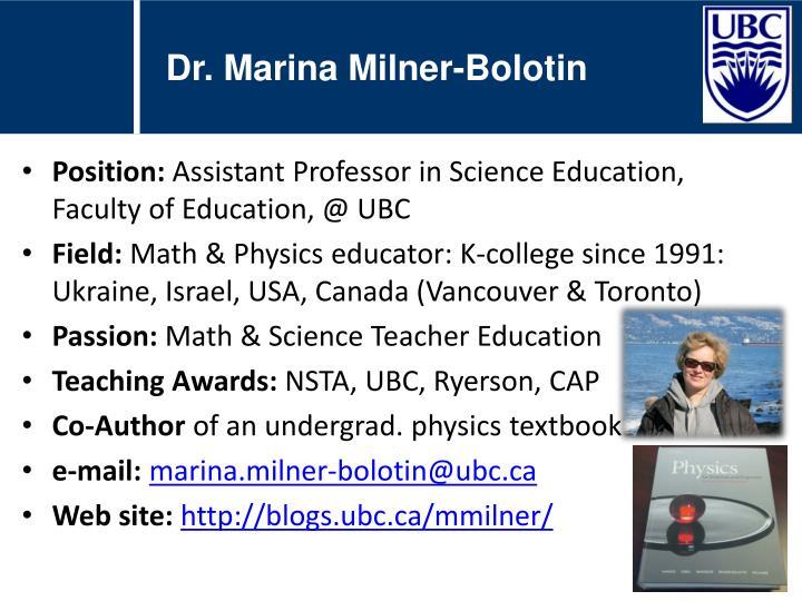 Dr. Marina Milner-Bolotin