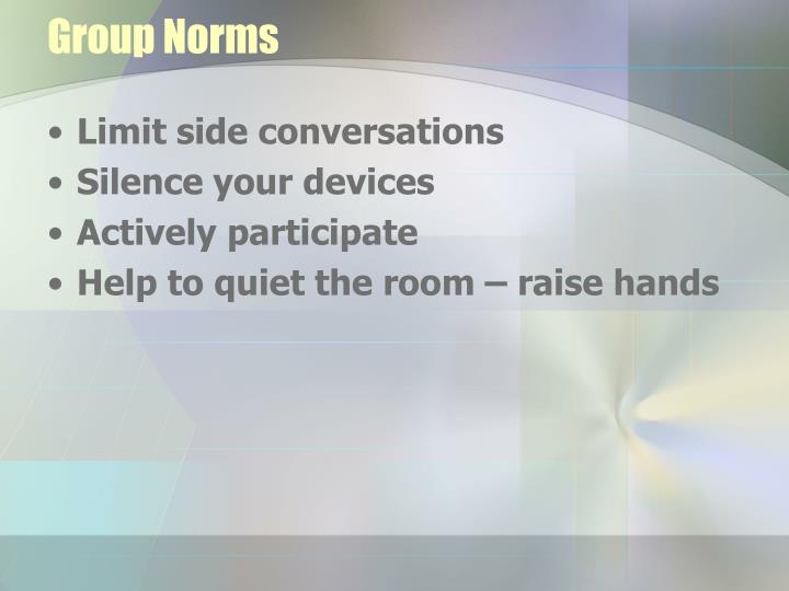 Group Norms