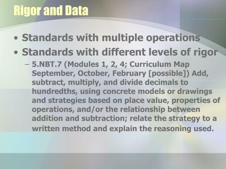 Rigor and Data