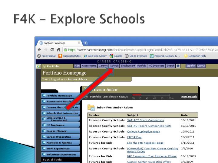 F4K – Explore Schools