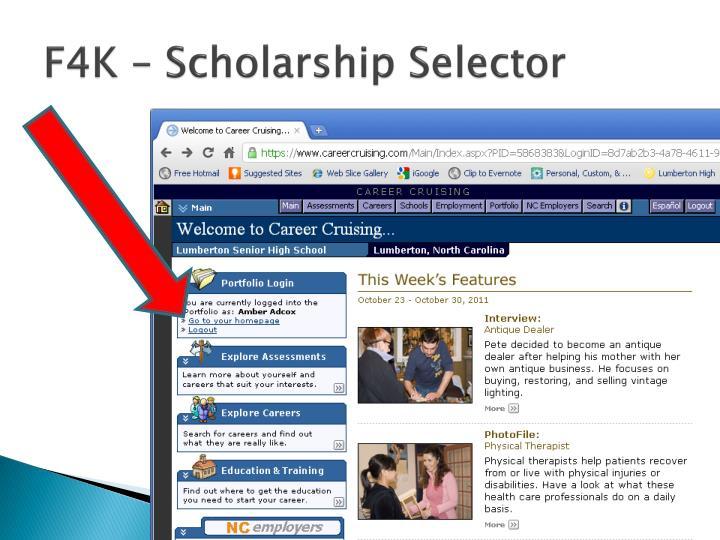 F4K – Scholarship Selector