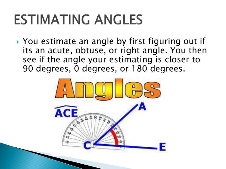 ESTIMATING ANGLES