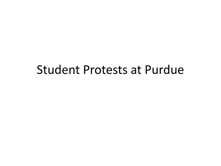 Student protests at purdue