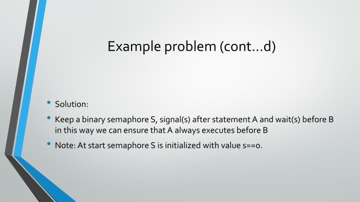 Example problem (cont...d)