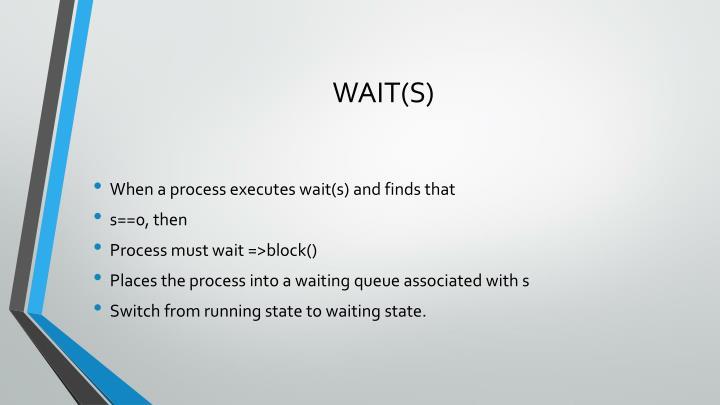 WAIT(S)