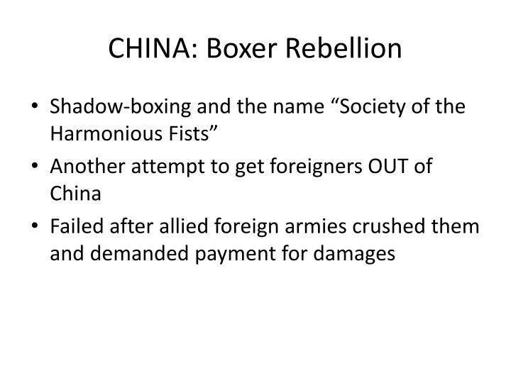 CHINA: Boxer Rebellion
